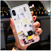 Load image into Gallery viewer, Makeup Quicksand Glitter Phone Case