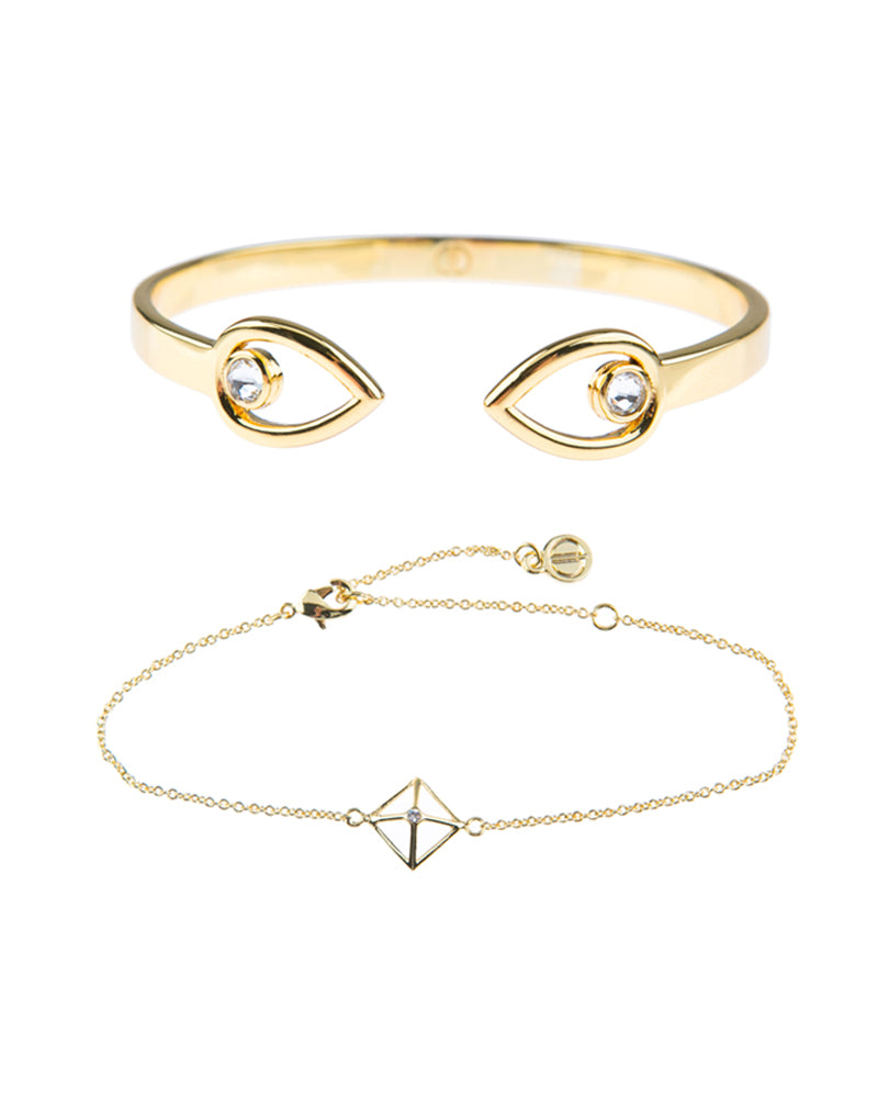 Canopy Of Stars Fine Bracelet Duo - Gold