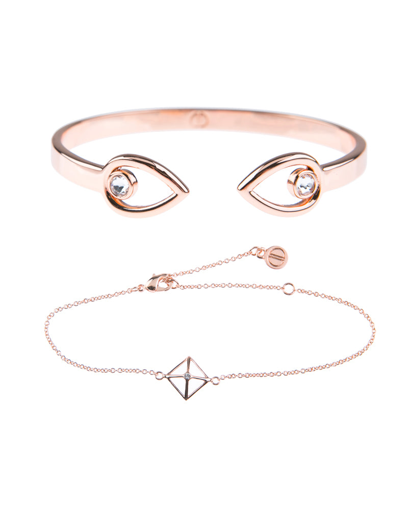 Canopy Of Stars Fine Bracelet Duo - Rose Gold