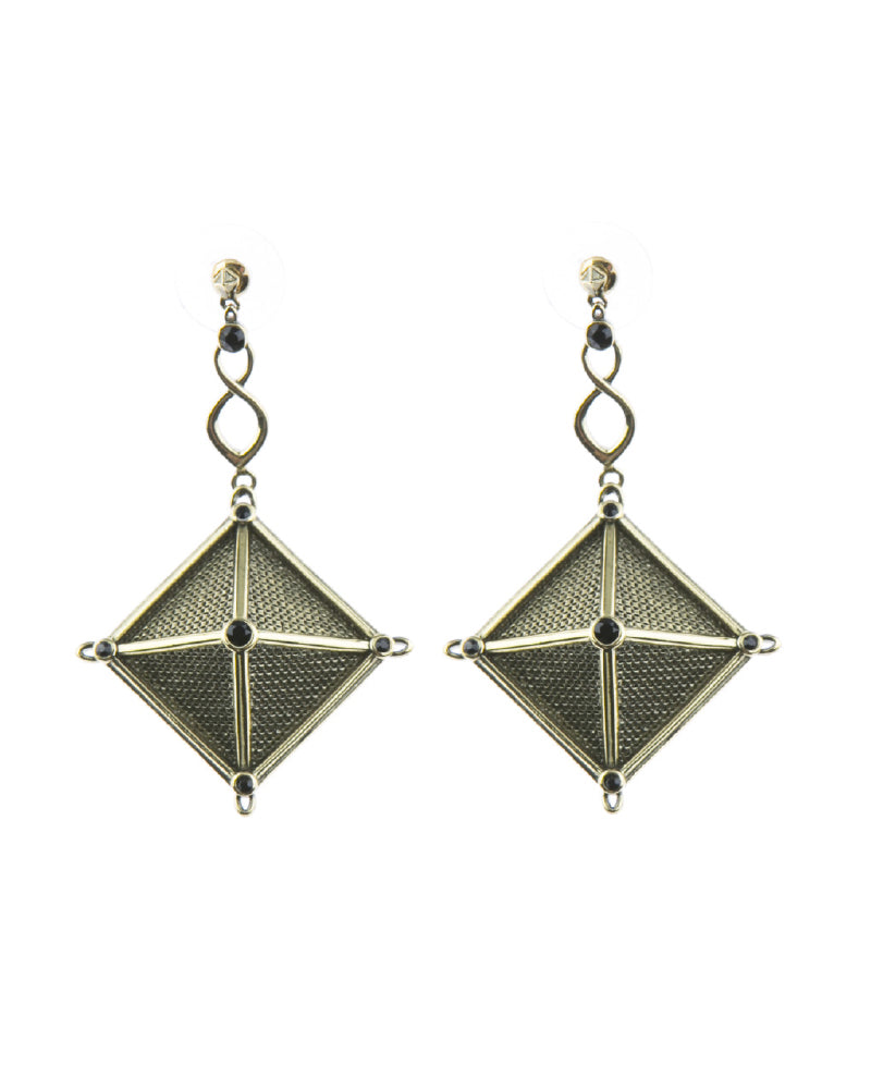 Canopy Of Stars Statement Earrings - Gold