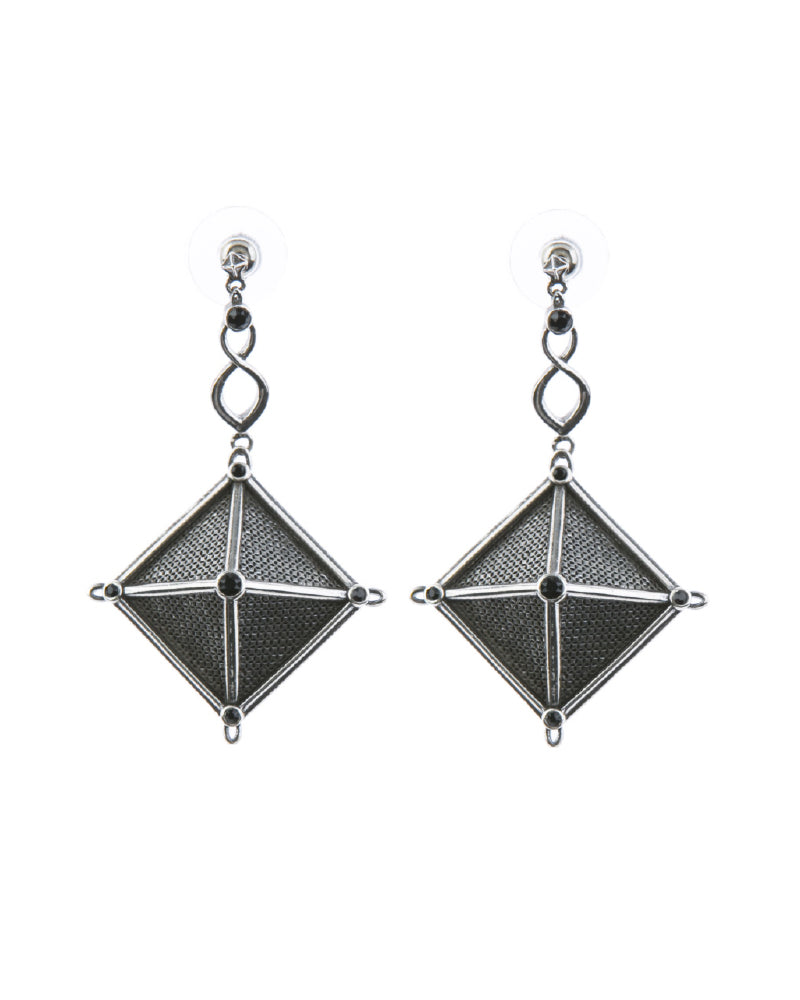 Canopy Of Stars Statement Earrings - Silver