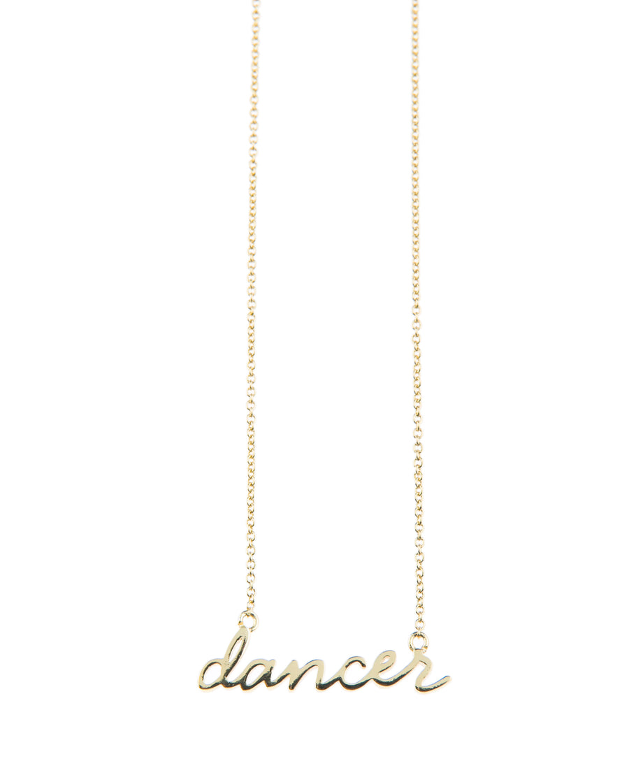 Dancer Fine Necklace - Gold