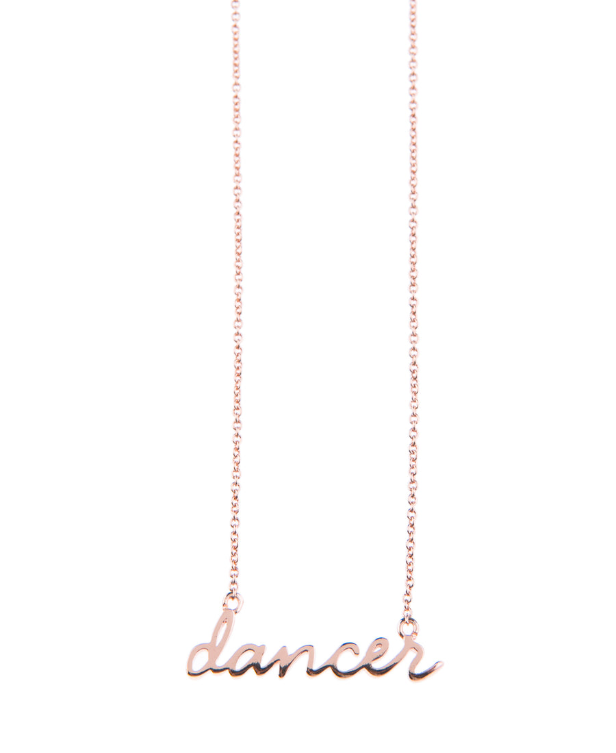 Dancer Fine Necklace - Rose Gold