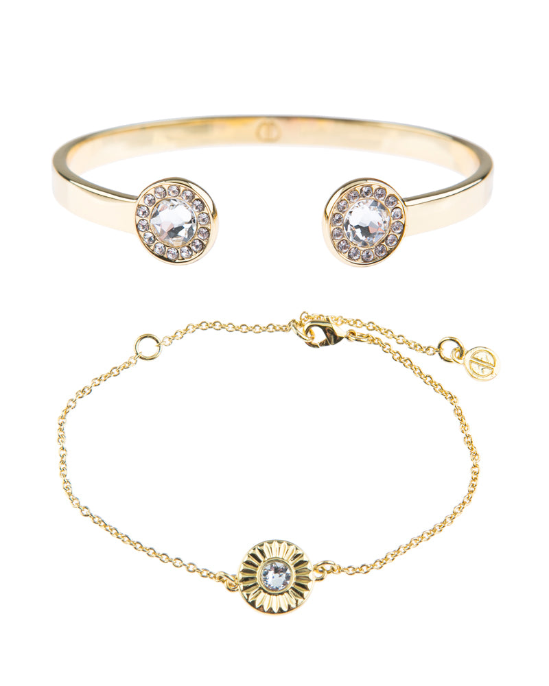 Light Up The Night Fine Bracelet Duo - Gold