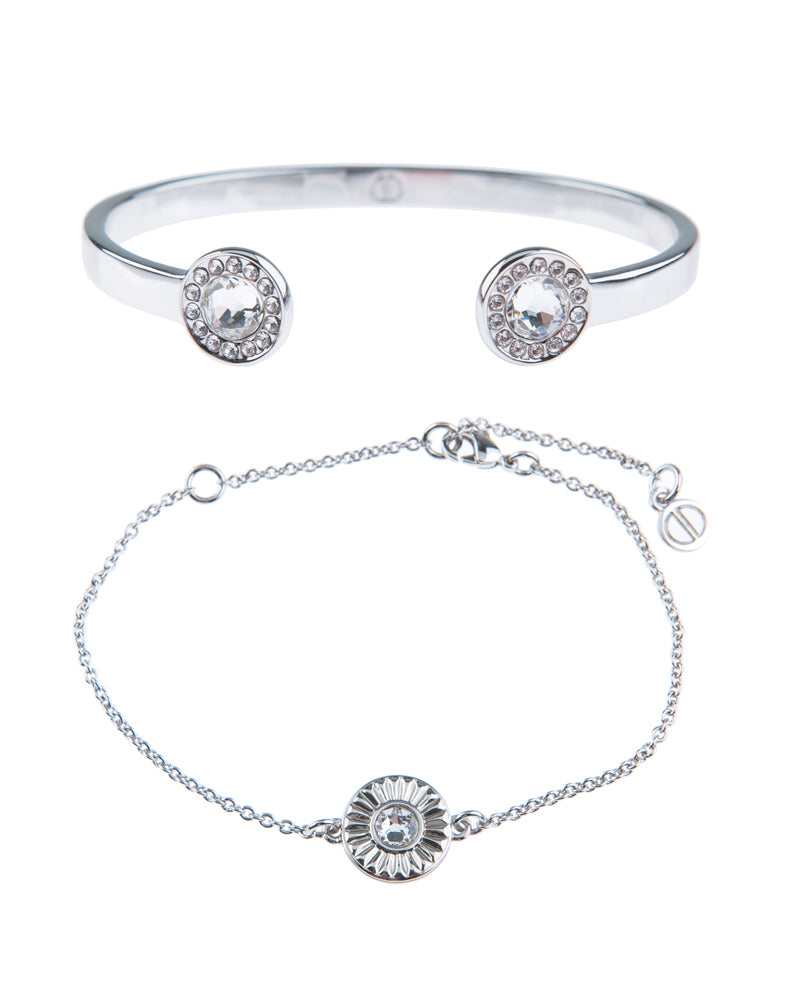 Light Up The Night Fine Bracelet Duo - Silver