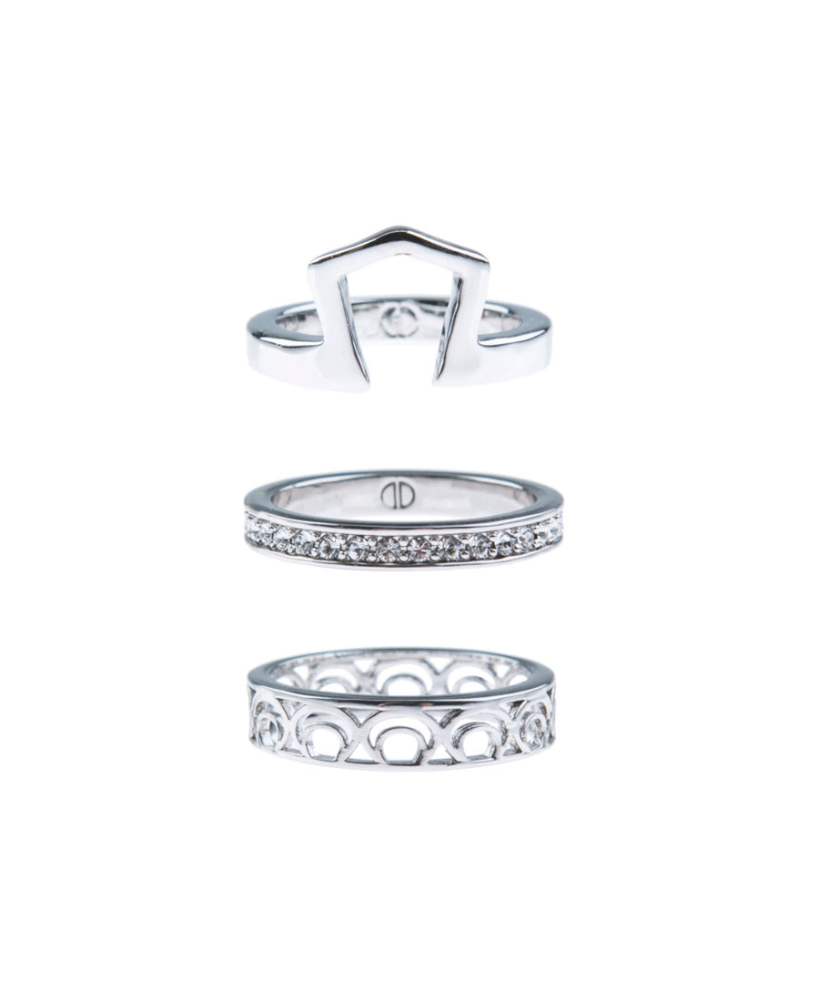 Light Up The Night Fine Ring Set - Silver