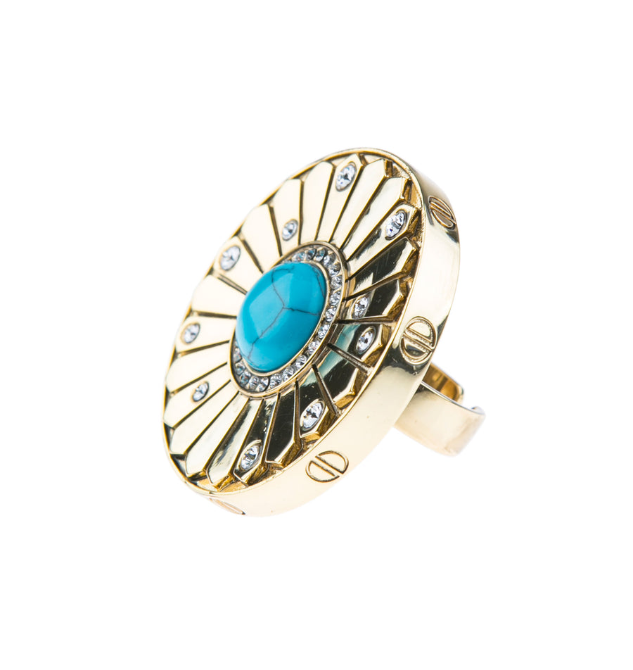 Light Up The Night Statement Ring - Gold