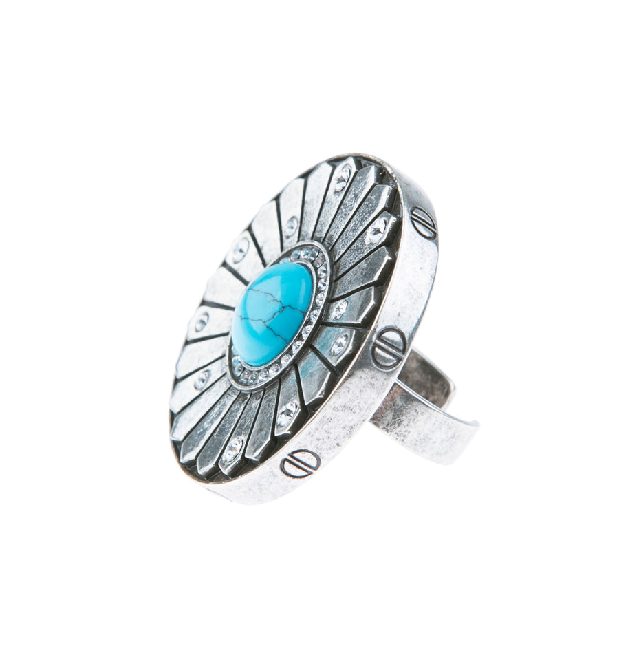 Light Up The Night Statement Ring - Silver