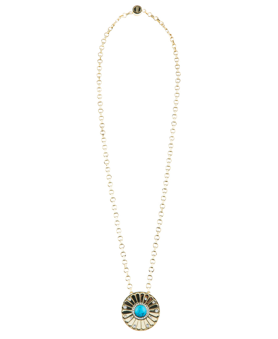 Light Up The Night Statement Necklace - Gold
