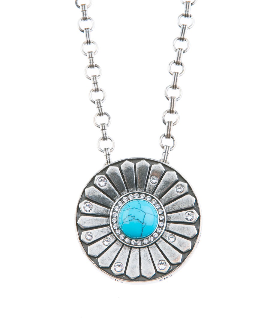 Light Up The Night Statement Necklace - Silver