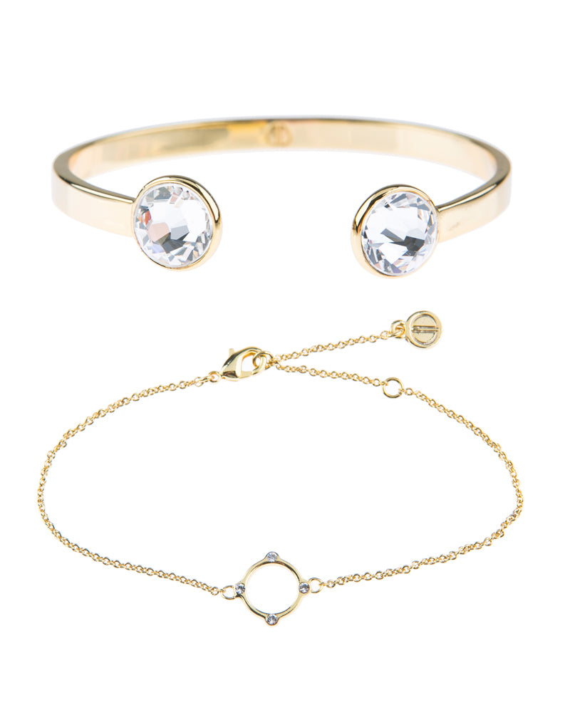Moments At Midnight Fine Bracelet Duo - Gold
