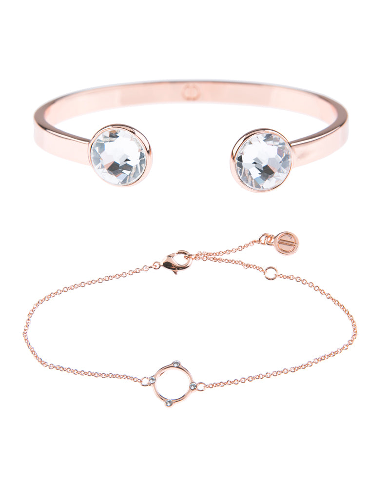Moments At Midnight Fine Bracelet Duo - Rose Gold