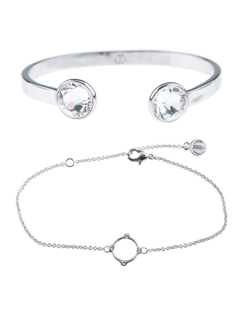 Moments At Midnight Fine Bracelet Duo - Silver