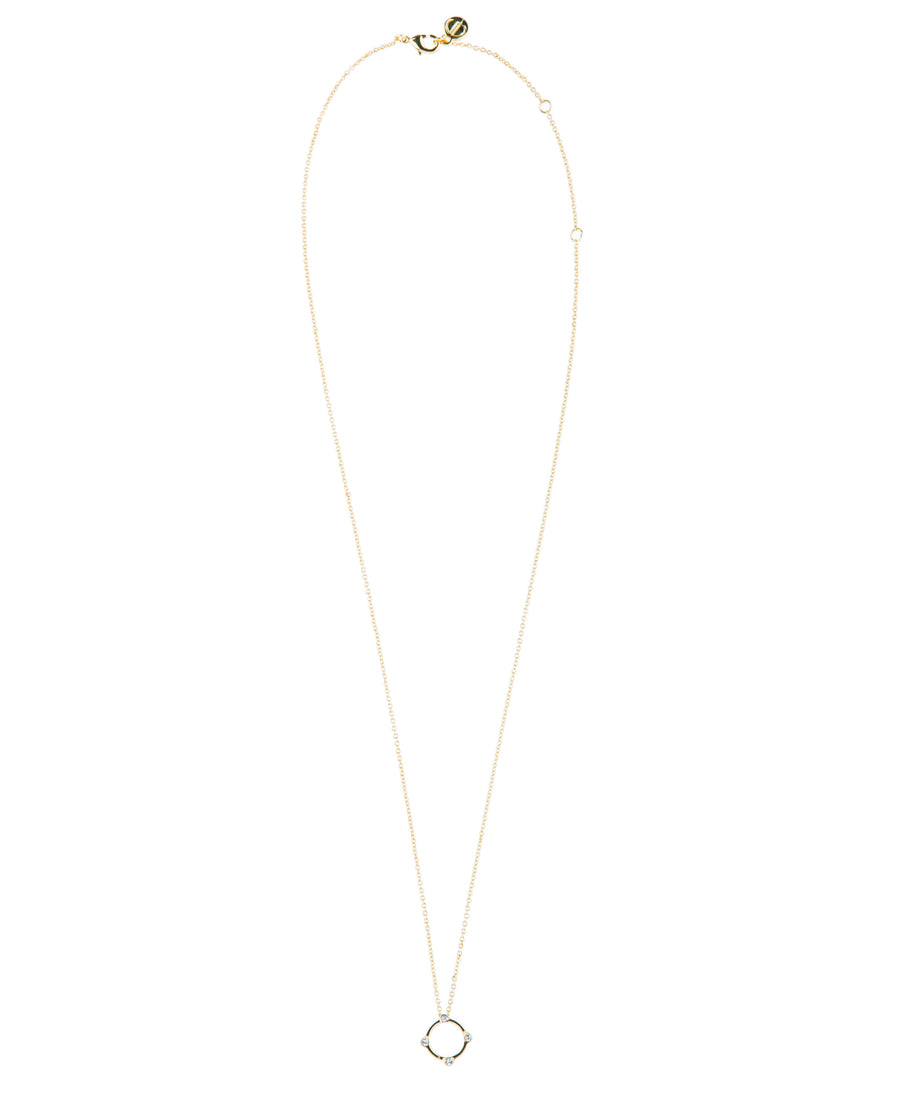 Moments At Midnight Fine Necklace - Gold