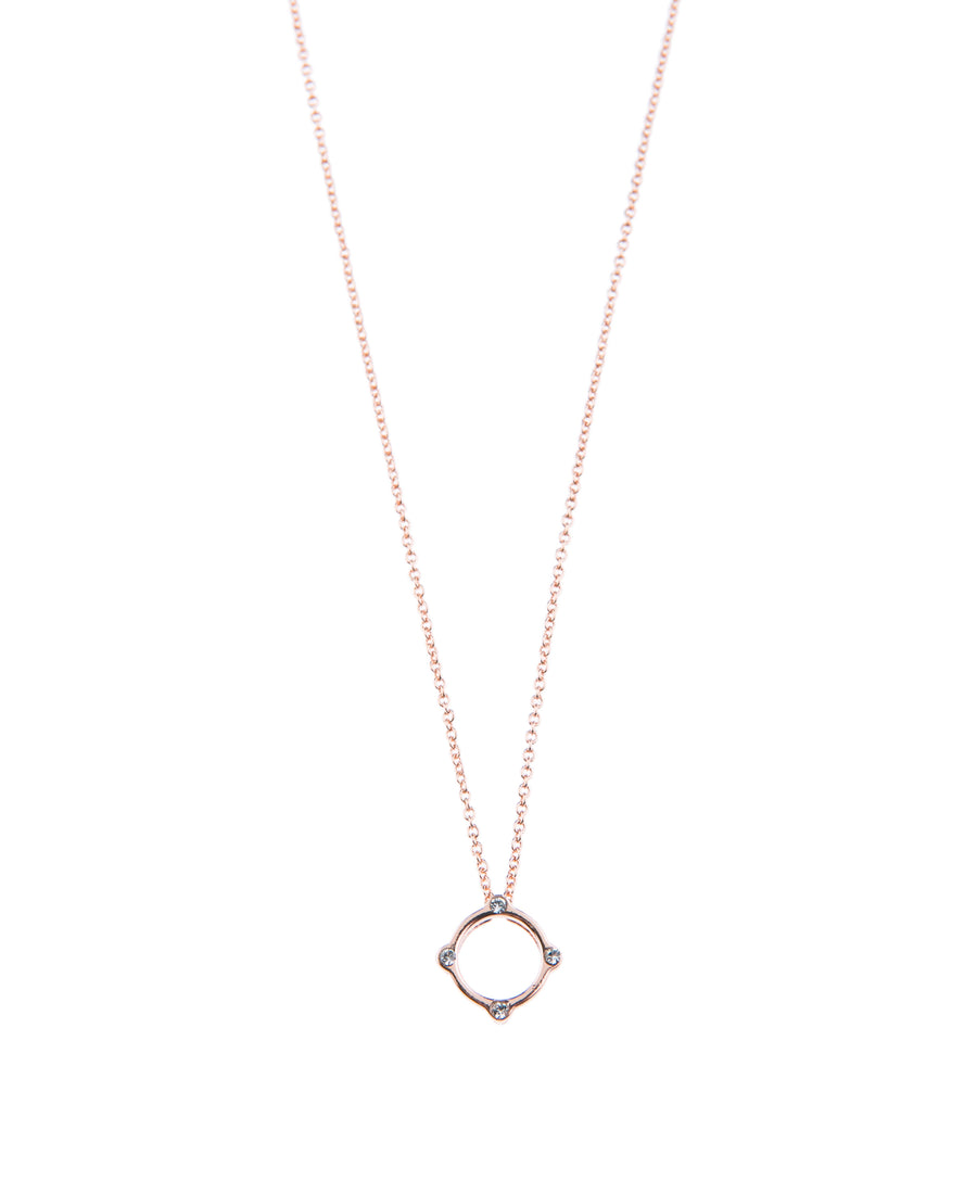 Moments At Midnight Fine Necklace - Rose Gold