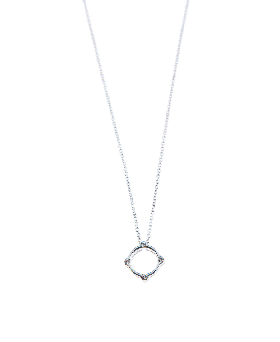 Moments At Midnight Fine Necklace - Silver