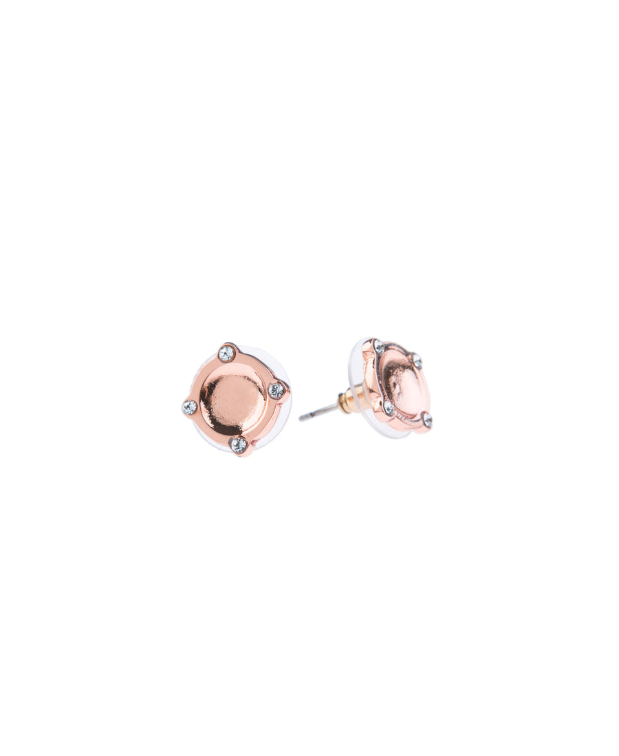 Moments At Midnight Fine Studs - Rose Gold