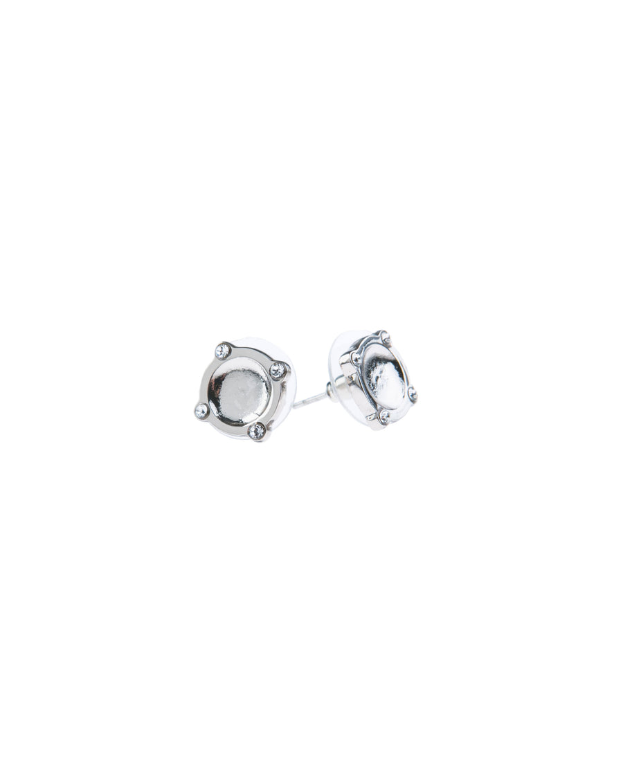 Moments At Midnight Fine Studs - Silver