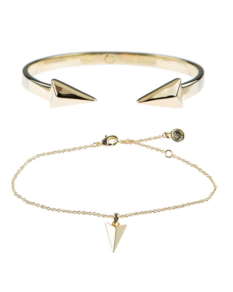 Show Me The Way Fine Bracelet Duo - Gold