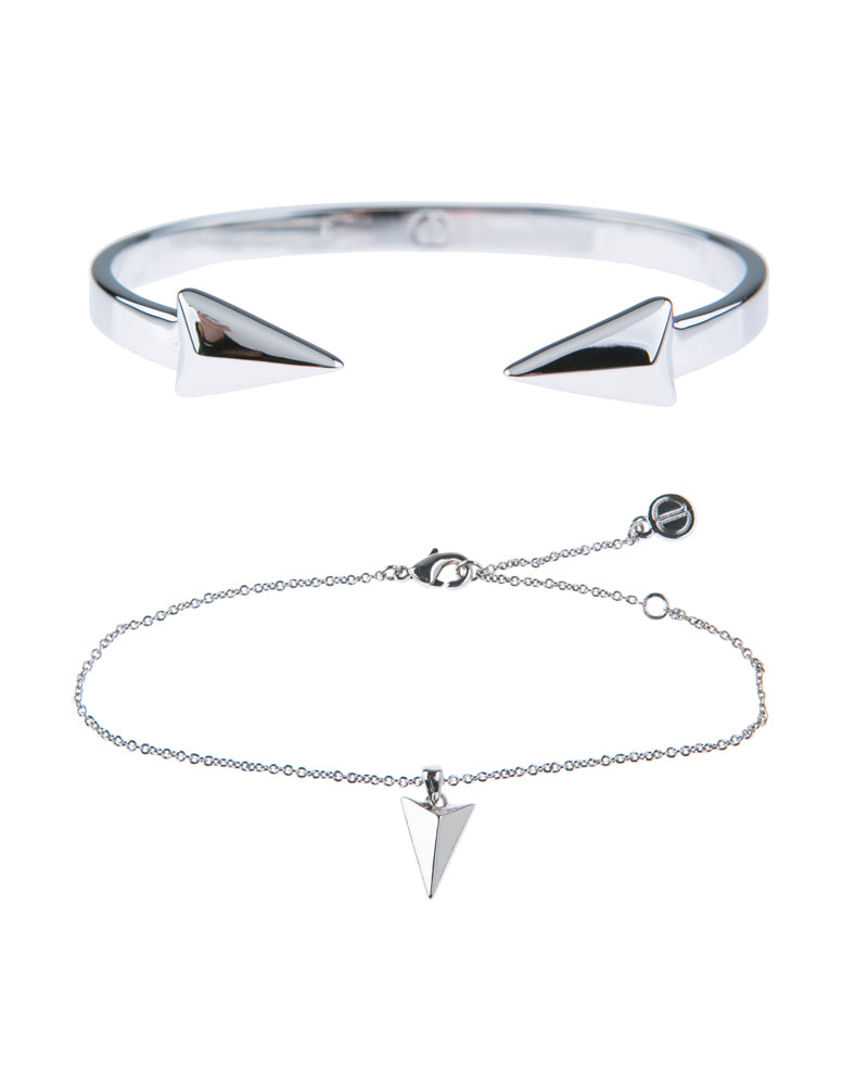 Show Me The Way Fine Bracelet Duo - Silver
