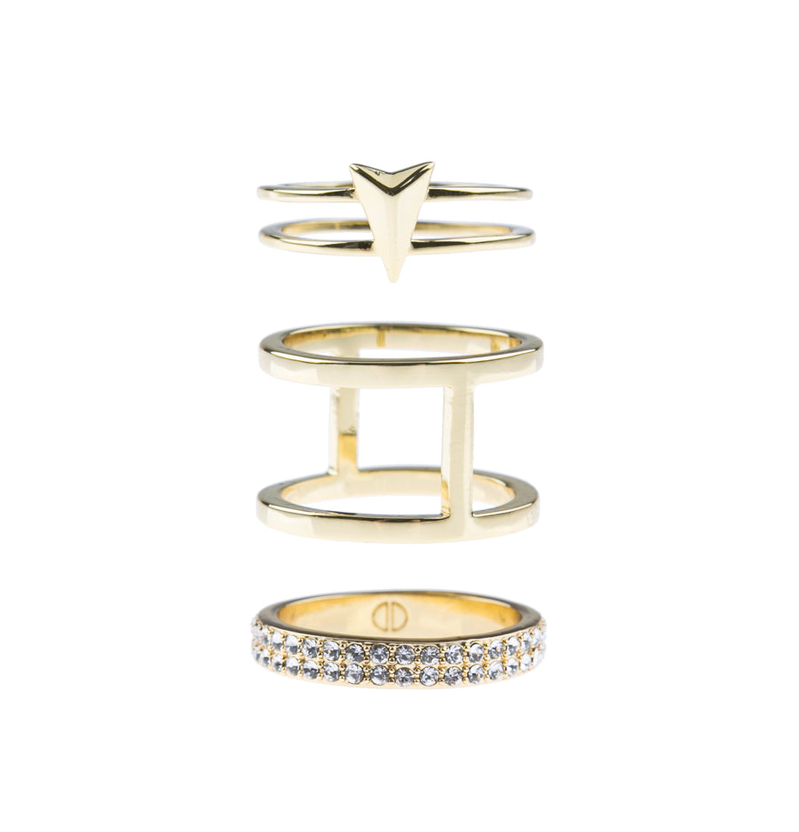 Show Me The Way Fine Ring Set - Gold