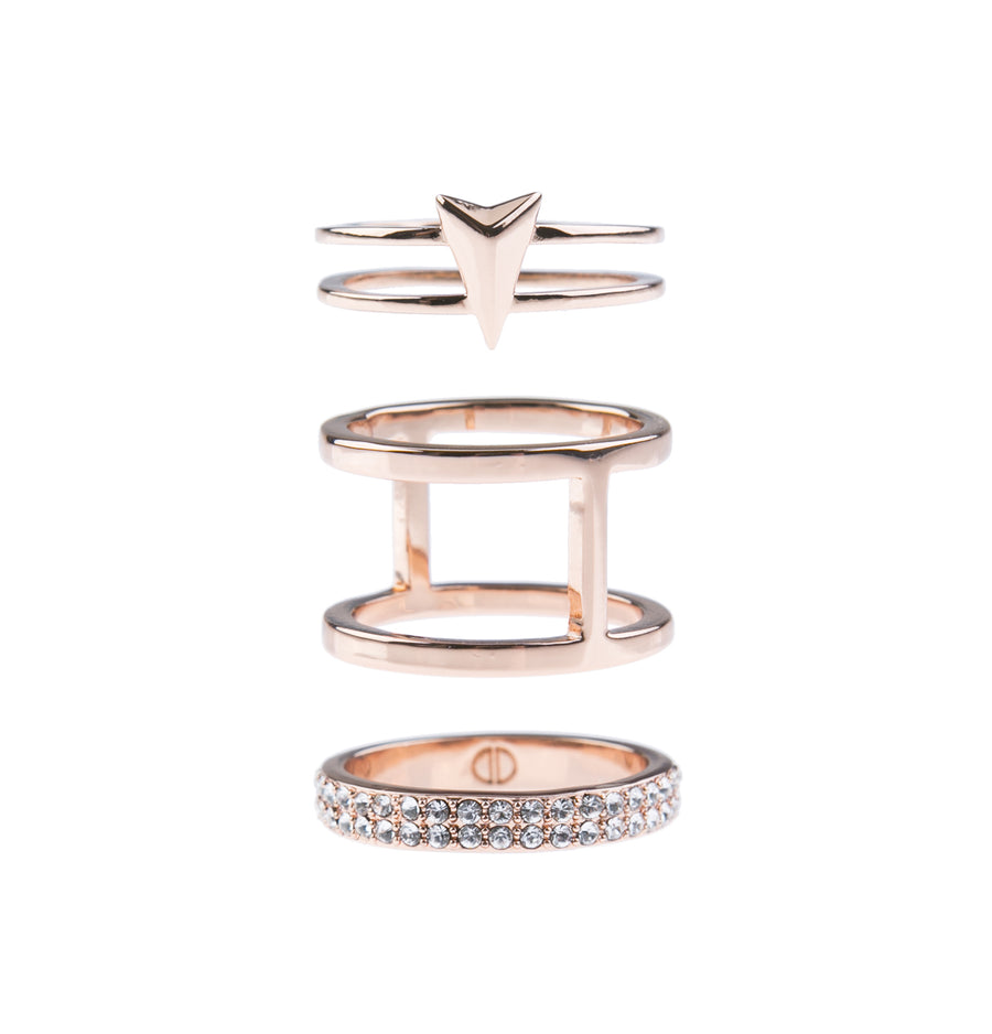 Show Me The Way Fine Ring Set - Rose Gold