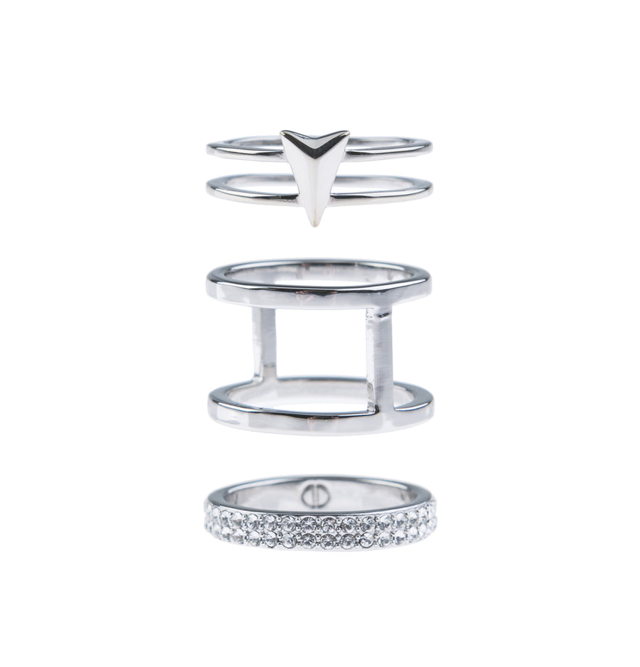 Show Me The Way Fine Ring Set - Silver
