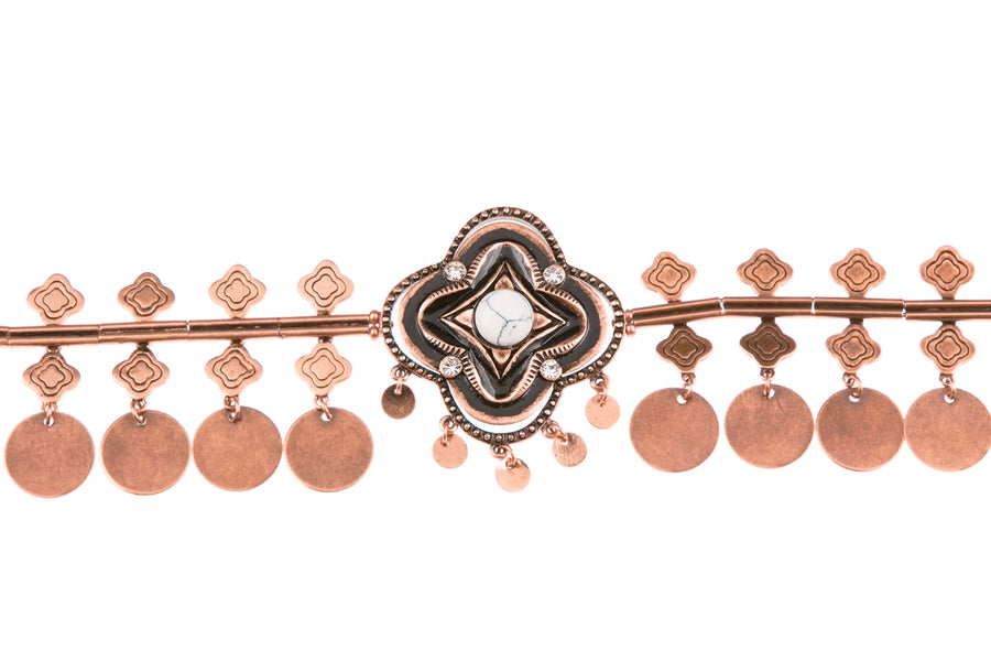 Sojourns At Sunset Statement Choker - Copper
