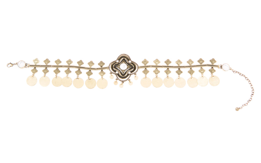 Sojourns At Sunset Statement Choker - Gold
