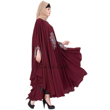 Load image into Gallery viewer, Irani kaftan with embroidery work- Maroon