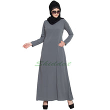 Load image into Gallery viewer, Designer Shrug abaya- Grey-Black