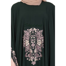 Load image into Gallery viewer, Irani kaftan with embroidery work- Dark Green