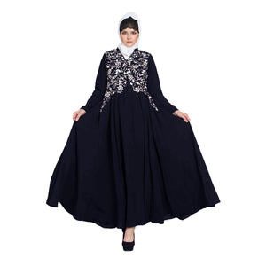 Embroidery abaya with bead work