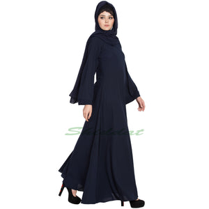 Umbrella cut abaya- Navy Blue