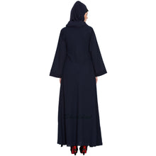 Load image into Gallery viewer, Umbrella cut abaya- Navy Blue