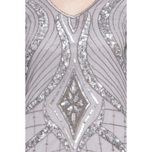 Load image into Gallery viewer, Designer embellished party wear Gown- Silver Grey