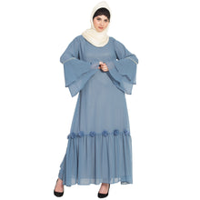 Load image into Gallery viewer, A-line abaya- Petrol Blue