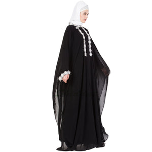 Designer kaftan abaya- lace maxi dress
