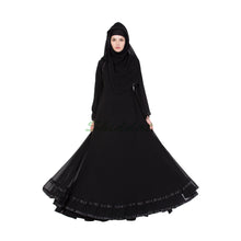 Load image into Gallery viewer, Double layered designer abaya- Black