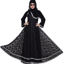 Load image into Gallery viewer, Double layered abaya- Black