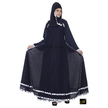 Load image into Gallery viewer, Double layered abaya- Navy Blue