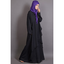 Load image into Gallery viewer, Asymmetrical abaya- Black