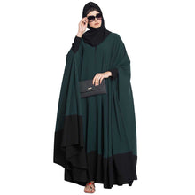 Load image into Gallery viewer, Two pieces designer Irani kaftan- Green-Black