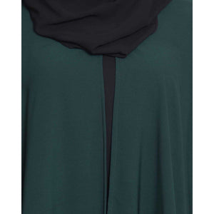 Two pieces designer Irani kaftan- Green-Black