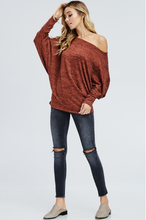 Load image into Gallery viewer, Dolman Off Shoulder Sweater