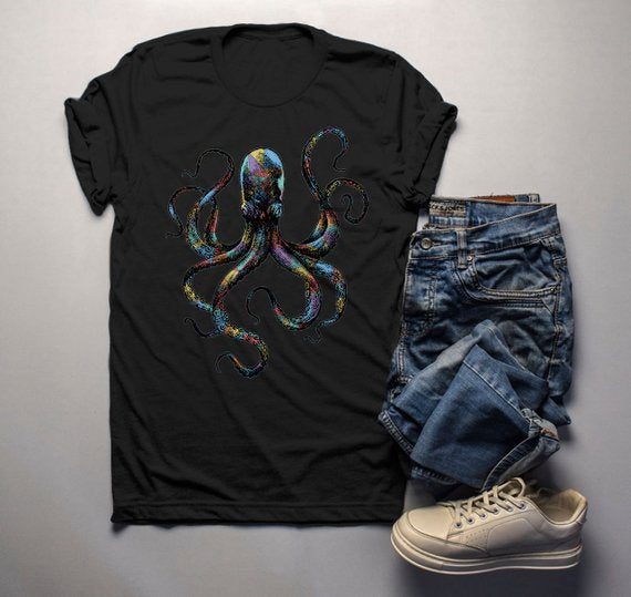 Octopus Hand Drawn Vintage Hipster Shirt