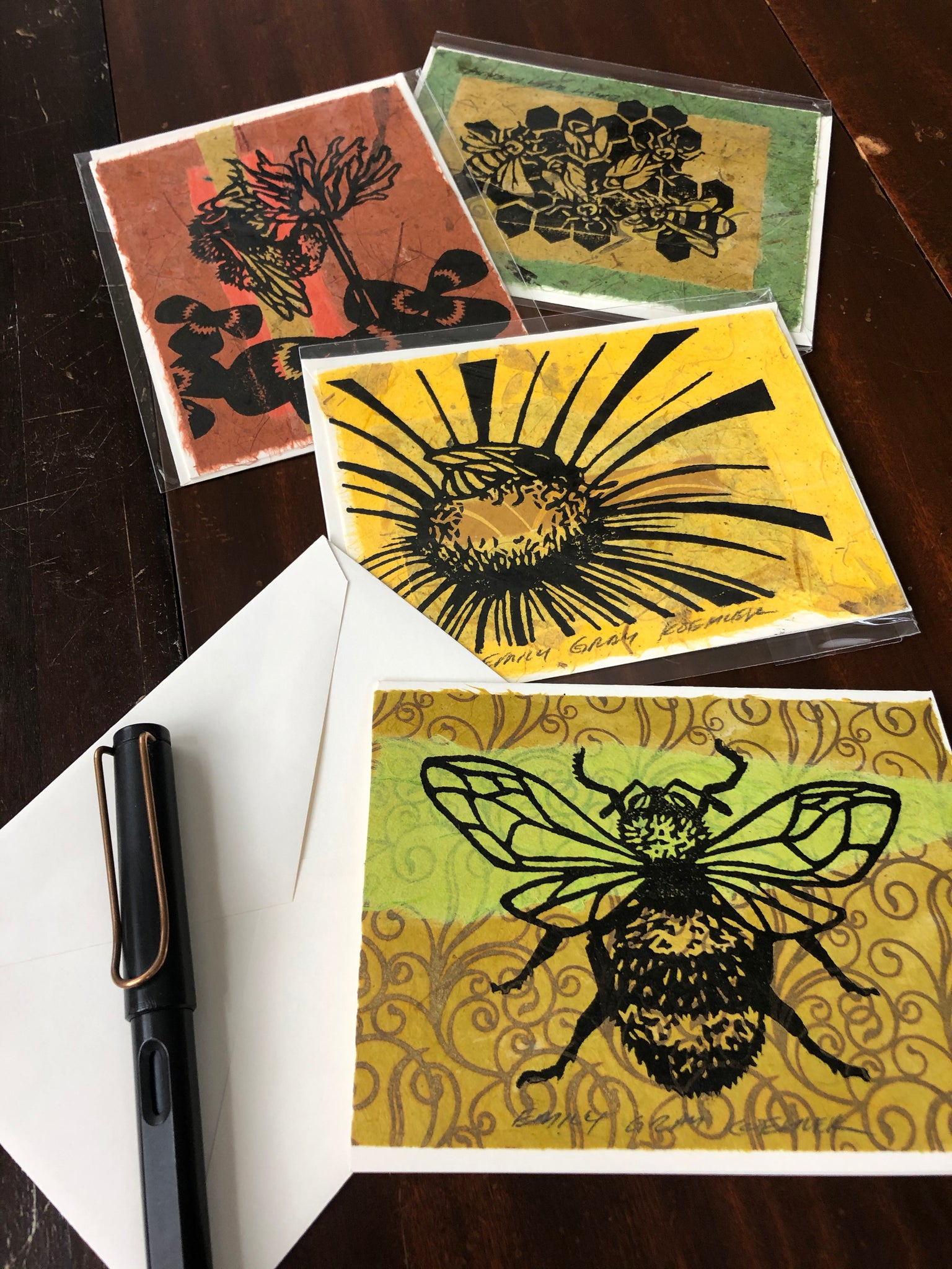Card Pack: Bees (4 Pack)