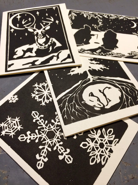Woodcut Greeting Cards