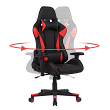 Smugdesk Gaming Chair Ergonomic Racing Office Chair High Back PU Leather Computer Desk Chair Red