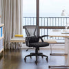 Mid Back Mesh Office Chair Ergonomic Swivel Black Mesh Computer Chair Flip Up Arms With Lumbar Support Adjustable Height Task Chair
